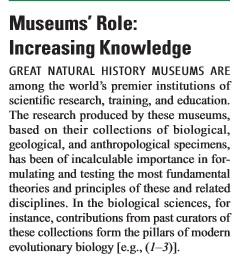 Field Museum Science letter