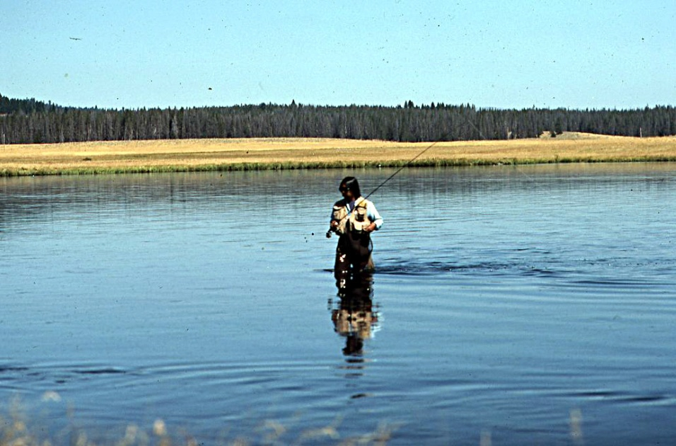 Ken Miyata fishing, by b wu.