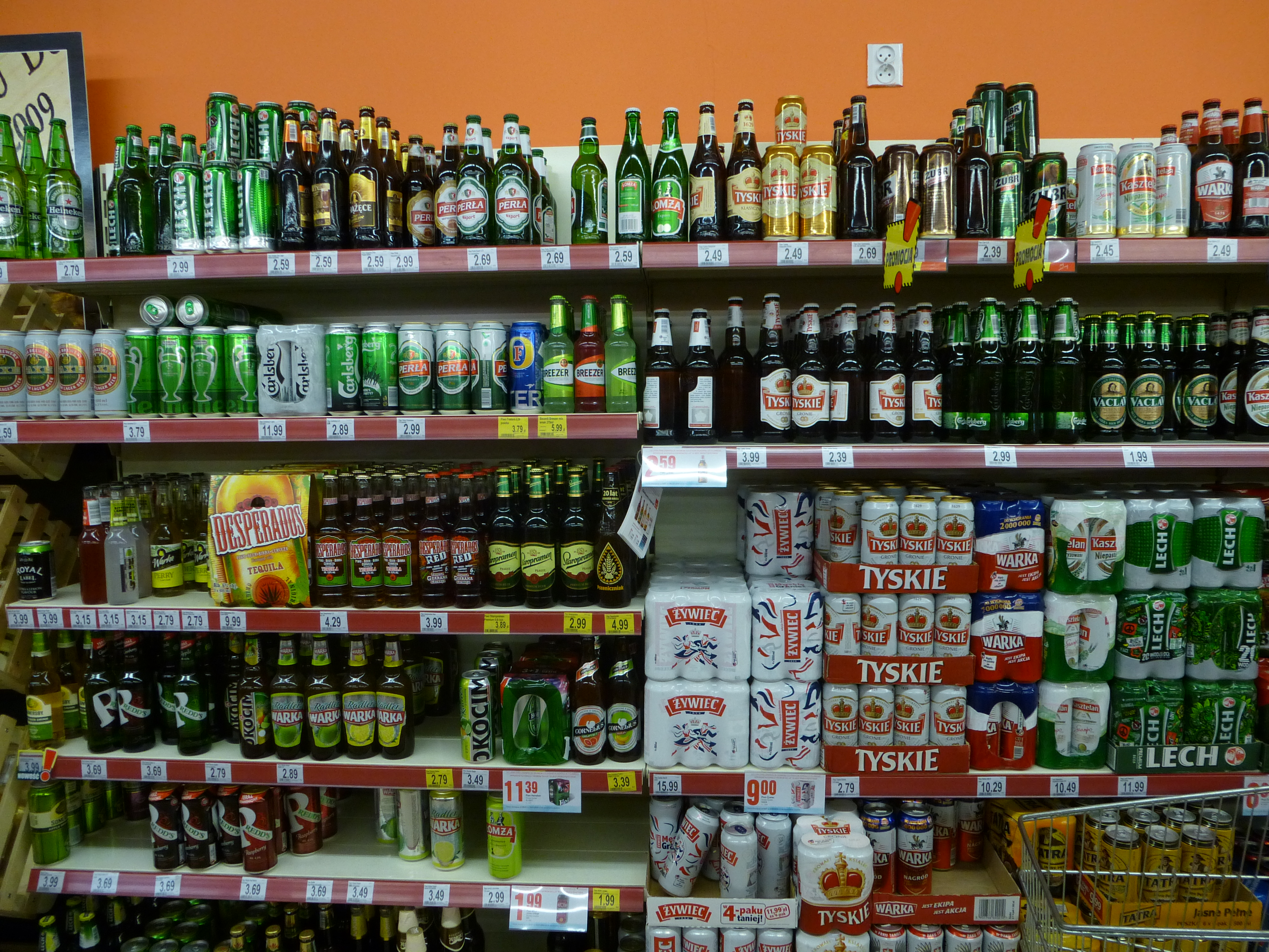 Beers at store