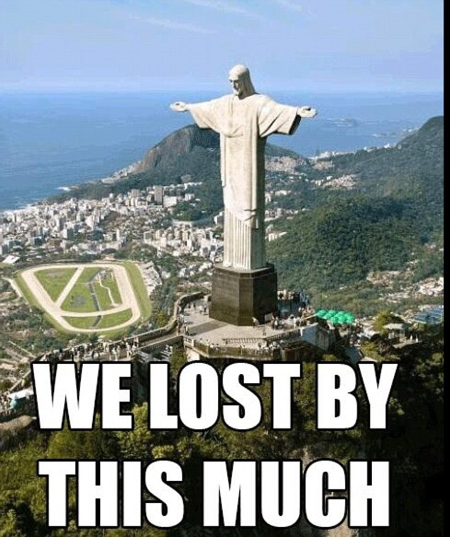 Brazil Lost by this much