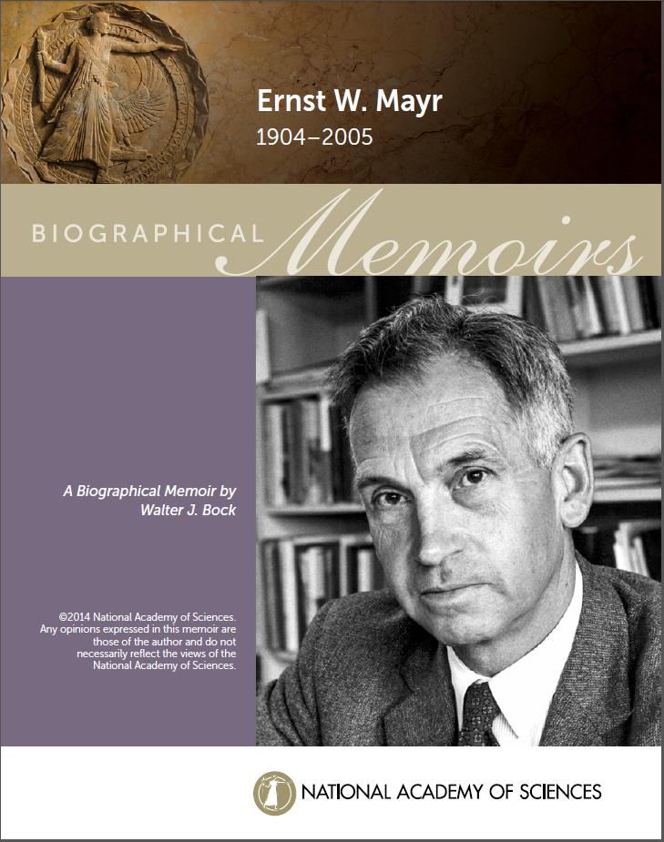 Mayr NAS Biog Mem cover
