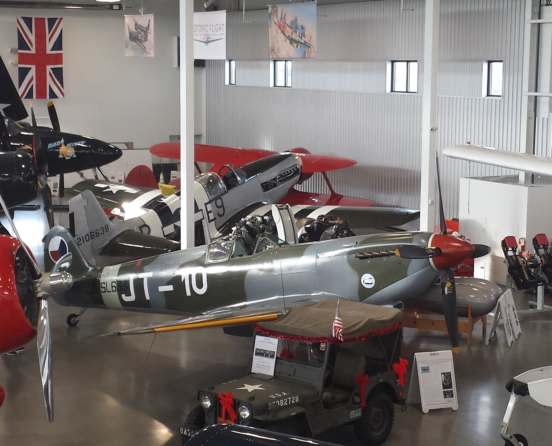 Spitfire at Historic Flight Foundation, Mukilteo, WA, December 2014.