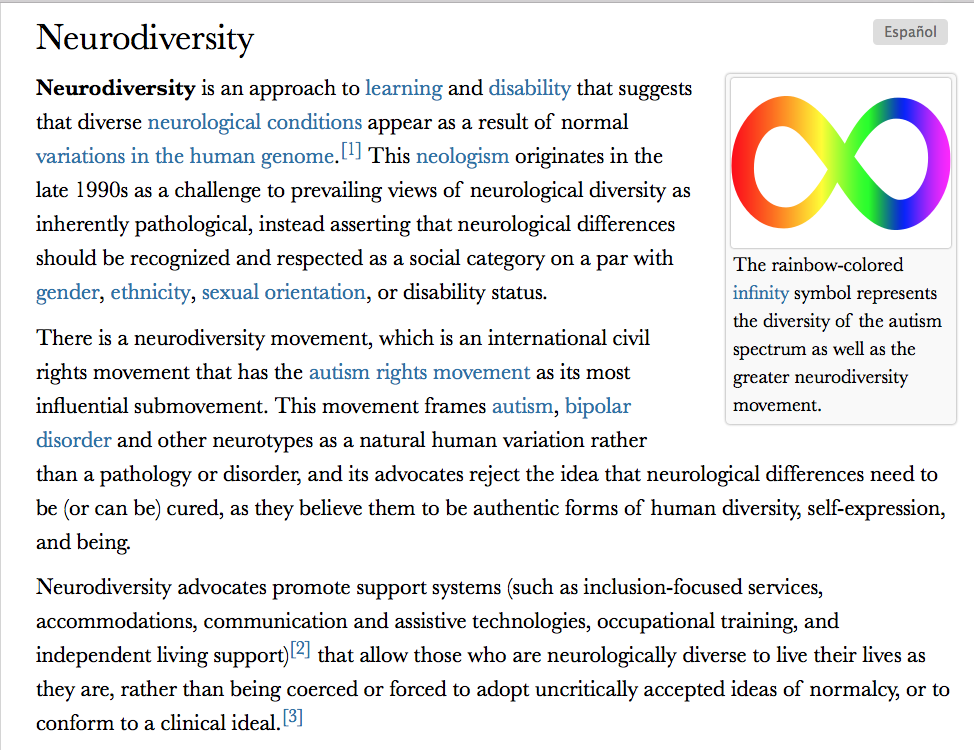 NEURODIVERSITY movement