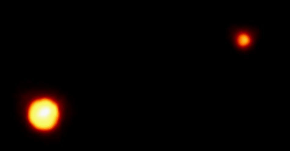 Pluto & Charon seen from Hubble. Image Credit: NASA/JPL-Caltech