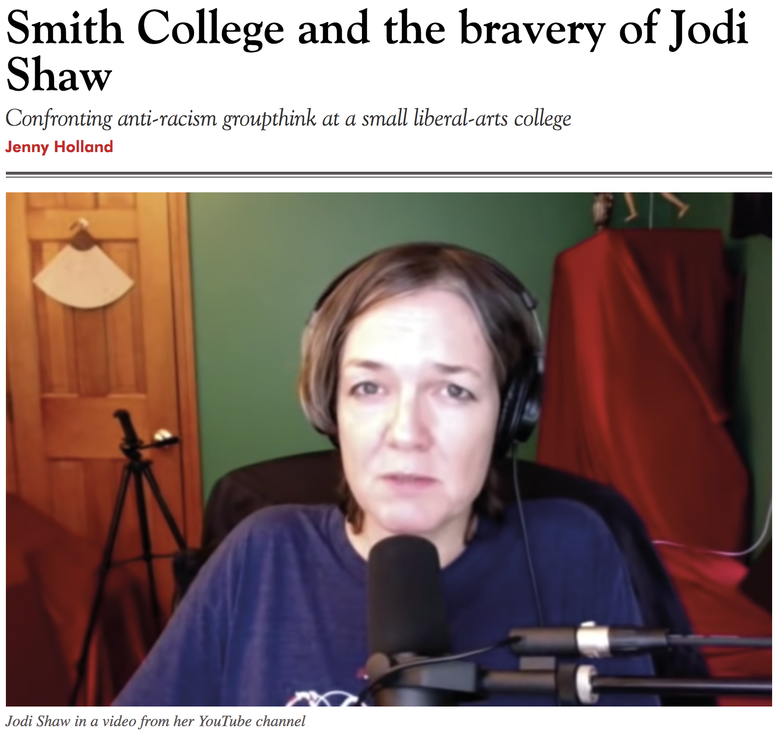 Jodi Shaw, the gadfly of Smith College: Put on paid leave, nevertheless, she persists