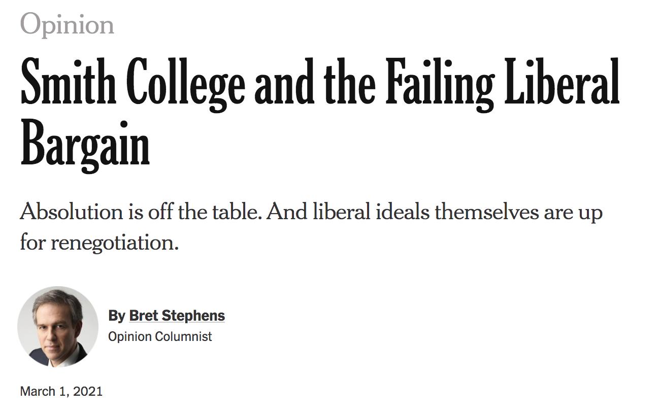 Bret Stephens writes another dangerous column